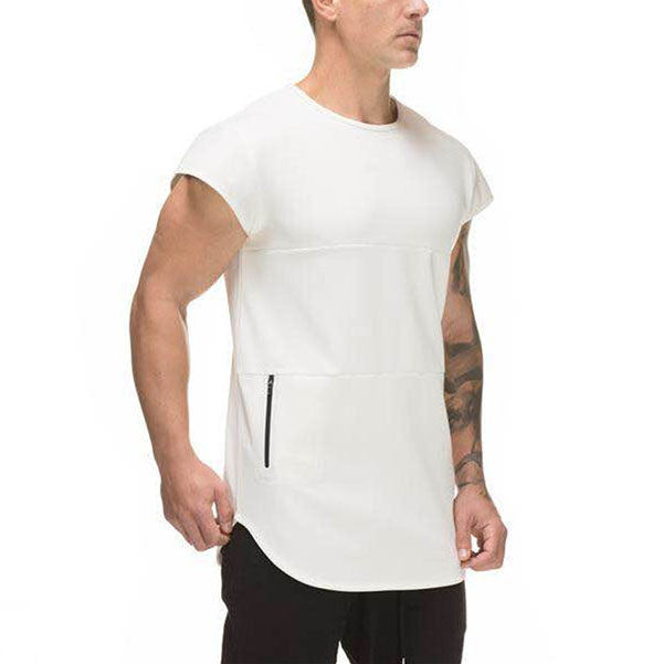 Fitness Elastic Cotton Quick Drying Short Sleeve Vest