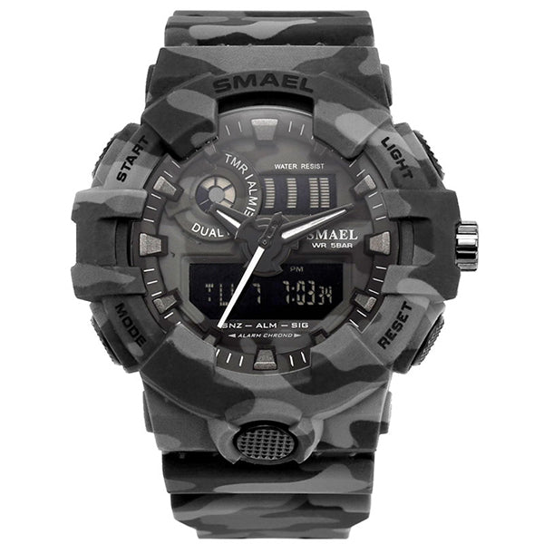 Camo Military Double Display Men Wristwatch - KINGEOUS