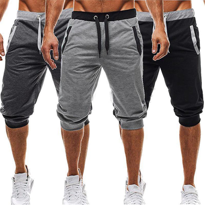 Casual Loose Men's Sportswear Ankle-Tied Shorts - KINGEOUS
