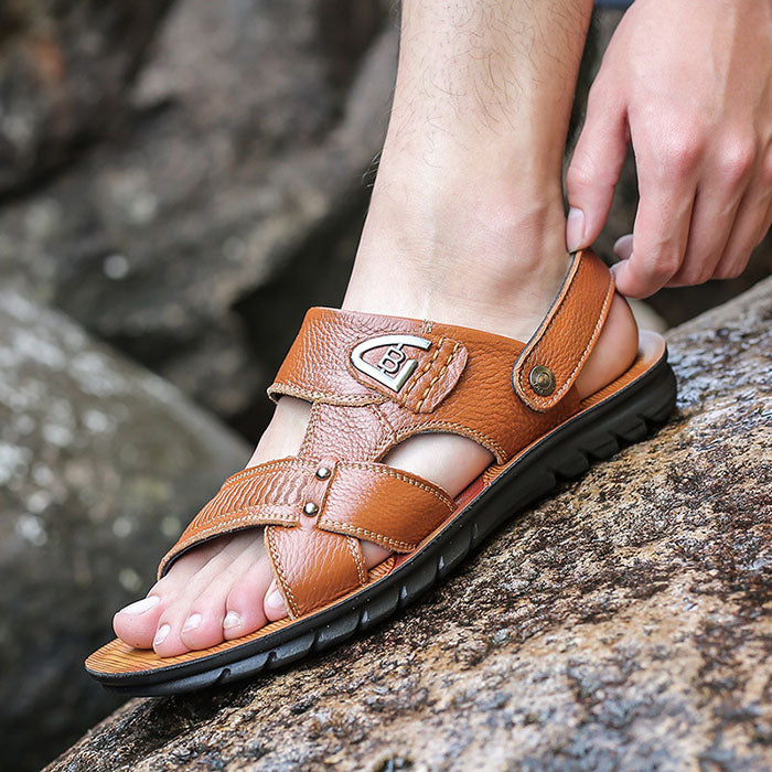 Fashionable Superior Leather Non-Slip Leisure Men's Sandals