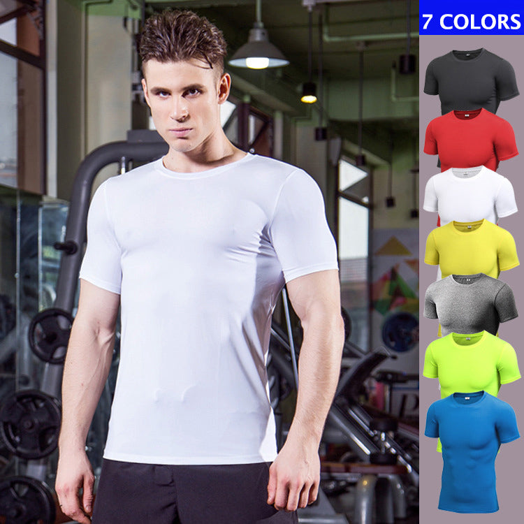 Solid Color Sport Fast Drying Men's Sportswear T-shirt