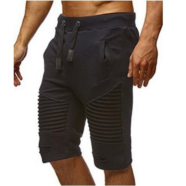 Fitness Leisure Stripe Slim Men's Sportswear Shorts