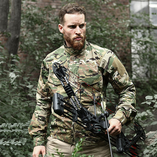 Camo Waterproof Quick Drying Breathable Tactical Men's Shirt - KINGEOUS