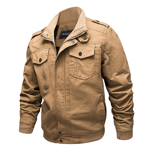 Max To 6XL Size Leisure Stand Collar Men's Jacket
