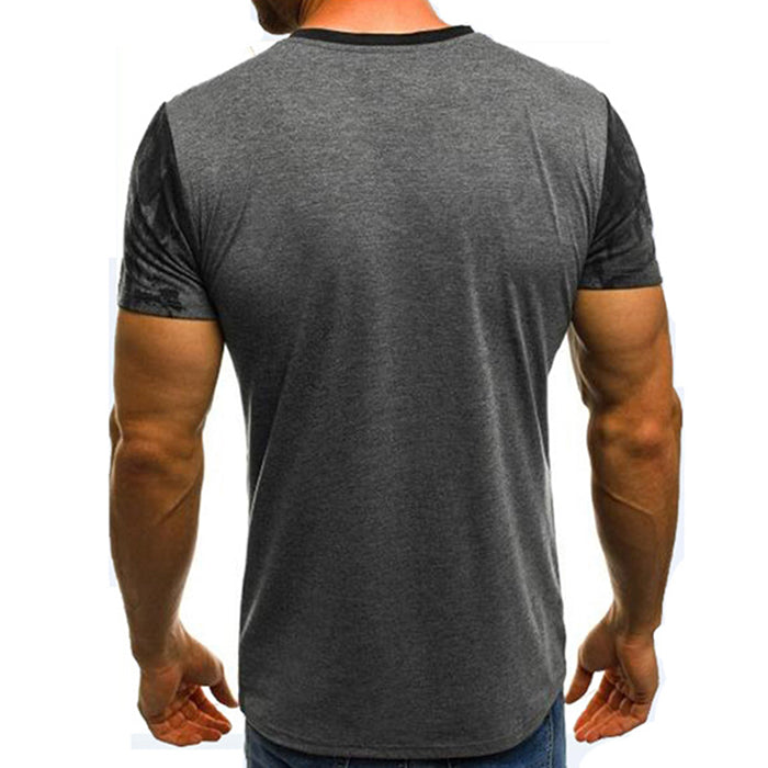 Fashion Sport Fitness Printing Camo Men's T-Shirt