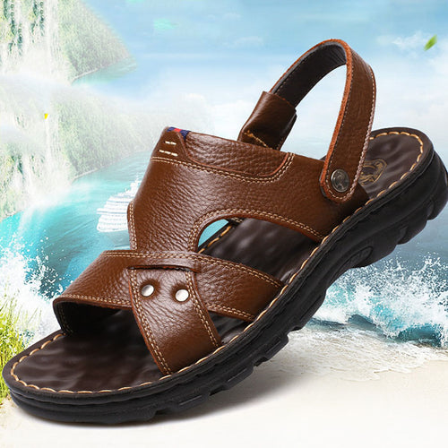 New Leisure Leather Thicken Sole Men's Sandals