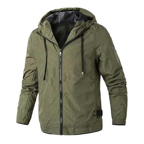 Solid Color Leisure Hooded Men Outdoor Jacket