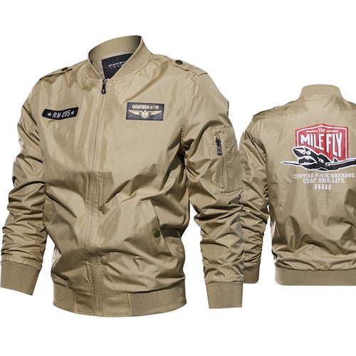 Air Force One Flight Style Large Size Men's Jacket - KINGEOUS