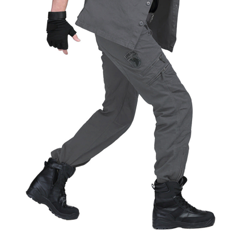 Military Style Casual Wear Multi-Pocket Cargo Men Pants