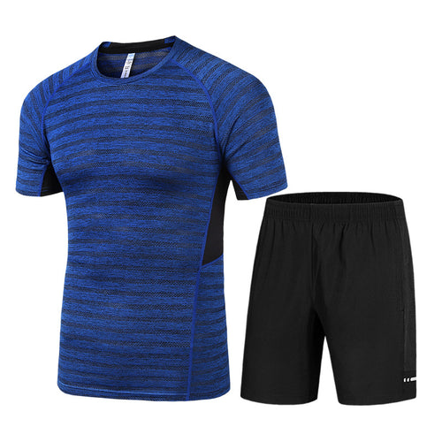 Fast Drying Slim Running Men's Sportswear Suit