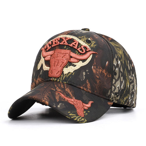 Outdoor Daily Embroidery Brown Cow for Men Women Hat