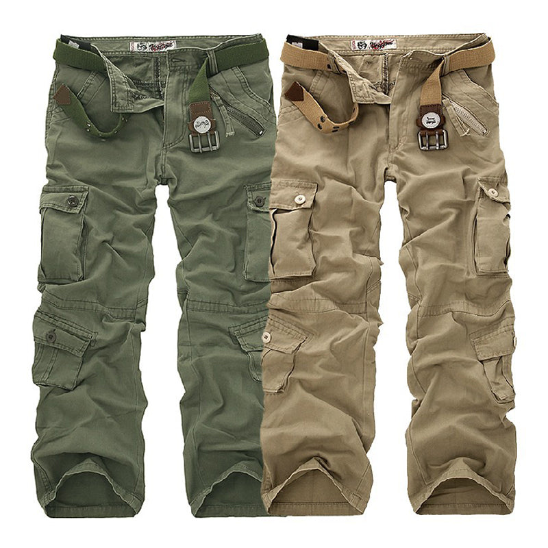 Causal Pockets Design Outdoor CottonMen's Cargo Pants - KINGEOUS