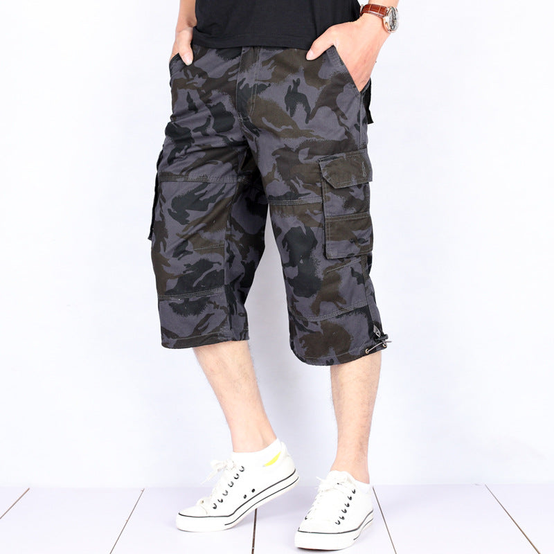 Max To 6XL Summer Camo Multi-Pocket Men's Shorts