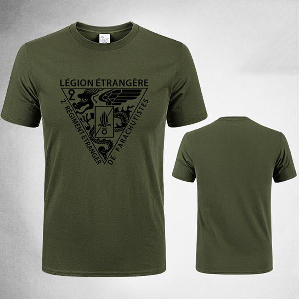 Foreign Legion Printed Round Tactical T-shirt