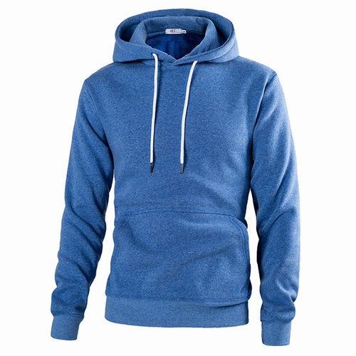 Pullover Solid Color Slim Fit Hooded Men's Hoodie