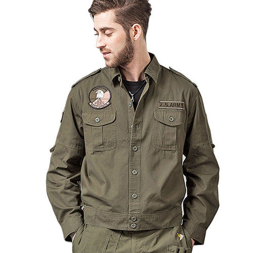 Tactics Cotton Long Sleeve Army Men's Shirt