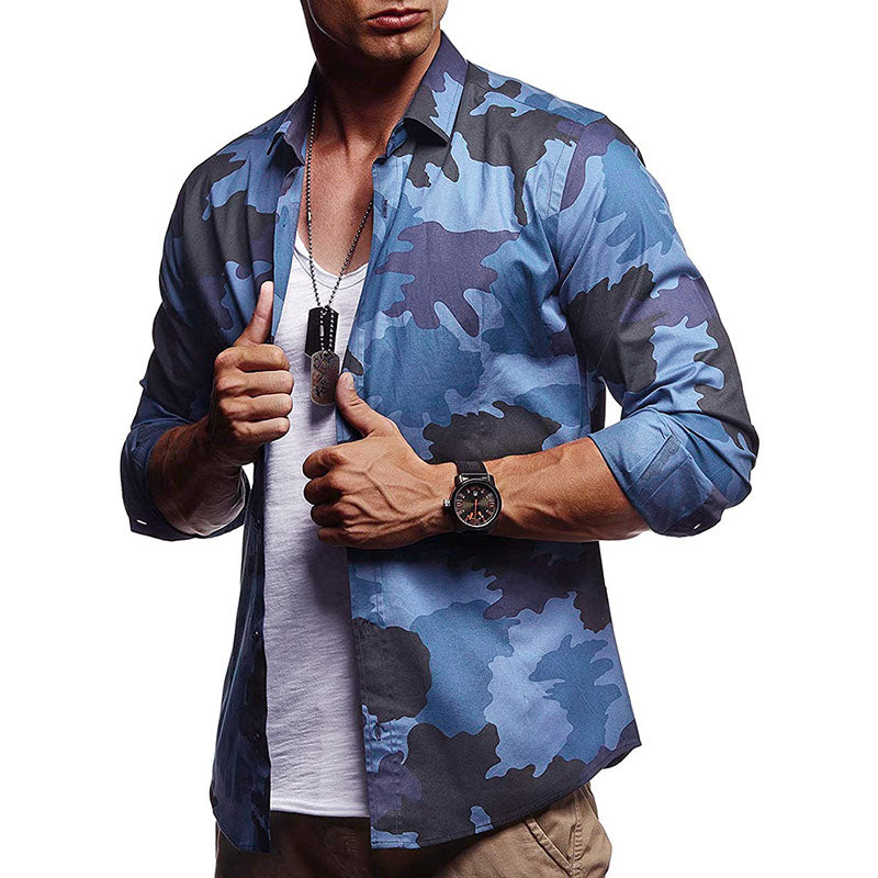 Men's camouflage Long-sleeve Shirts