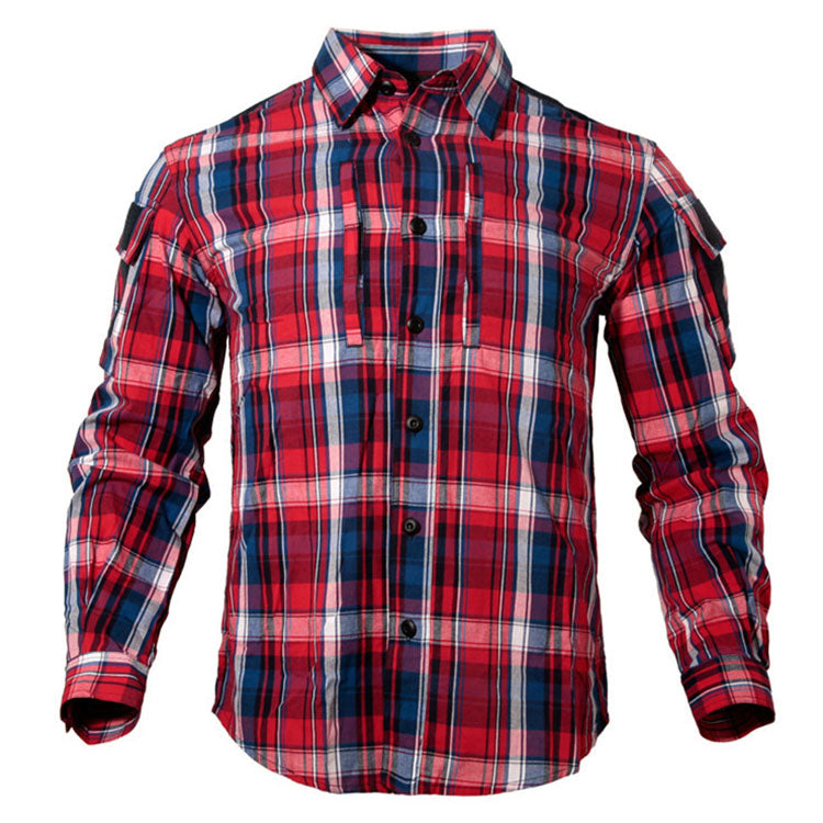 Outdoor Breathable Wear-resistant Plaid Shirt For Men And Women