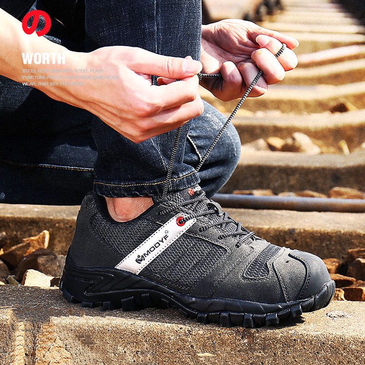 Anti-piercing Women and Men Work Safety Shoes - KINGEOUS