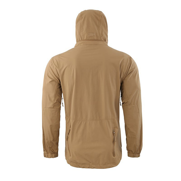 Outdoor Elastic Quick-Drying Hooded Standing Collar Men's Jacket