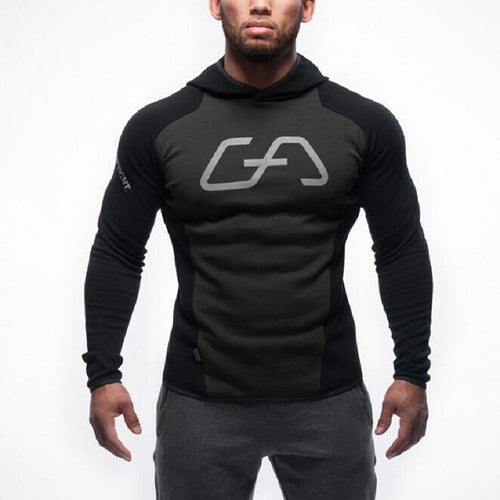 High Grade GA Sport Hooded Fitness Men's Hoodie