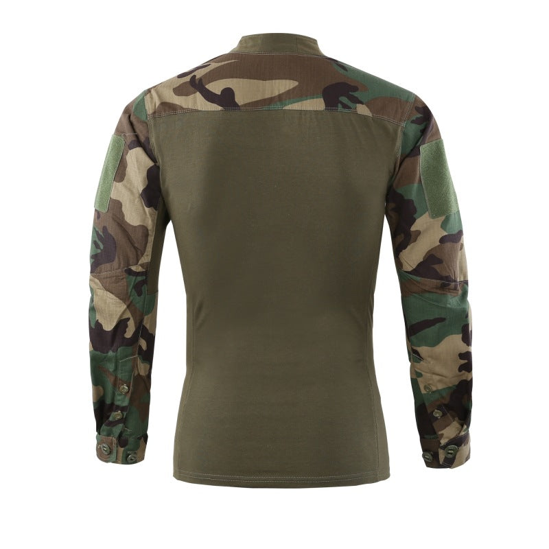 Tactical Cotton V-Neck Elastic Wear-Resistant Men's T-shirt