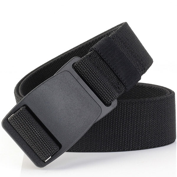 Military Style Thicken Canvas Plastic Buckle Elastic Belt
