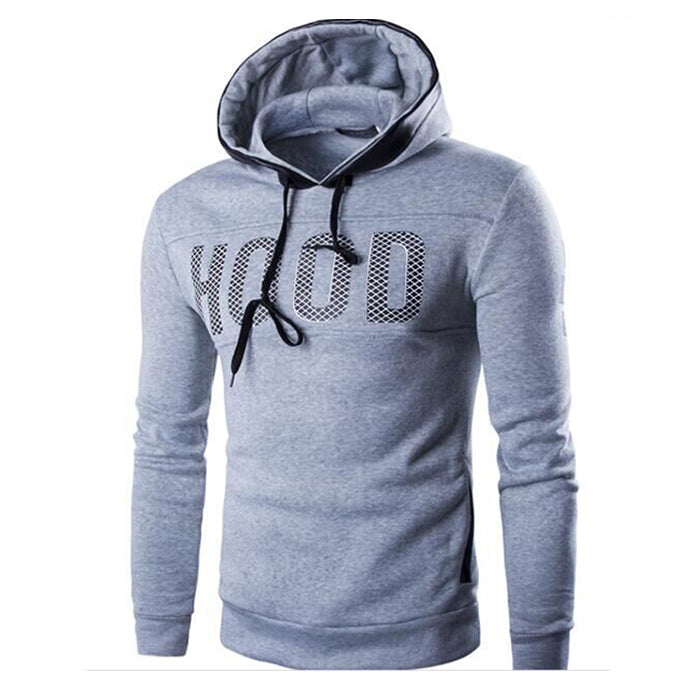 Fashion British Style Plus Size Hooded Men's Hoodie - KINGEOUS