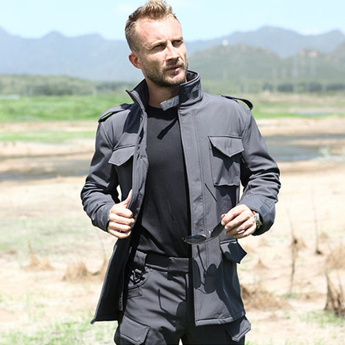 Superior Quality Multi-pocket Warm Fleece Men's Jacket