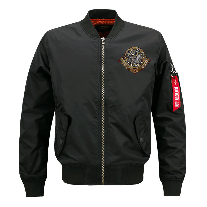 Max To 8XL US Army Embroidery Thin Pilot Jacket