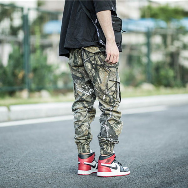 Street Camo Jogger Skateboard Ankle Banded Pants