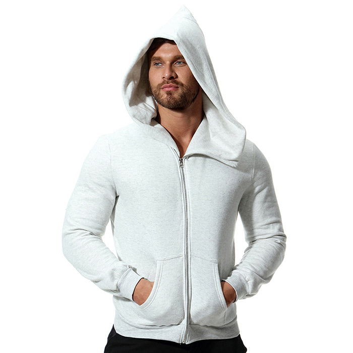 British Style Solid Color Long Sleeve Men's Hoodie - KINGEOUS