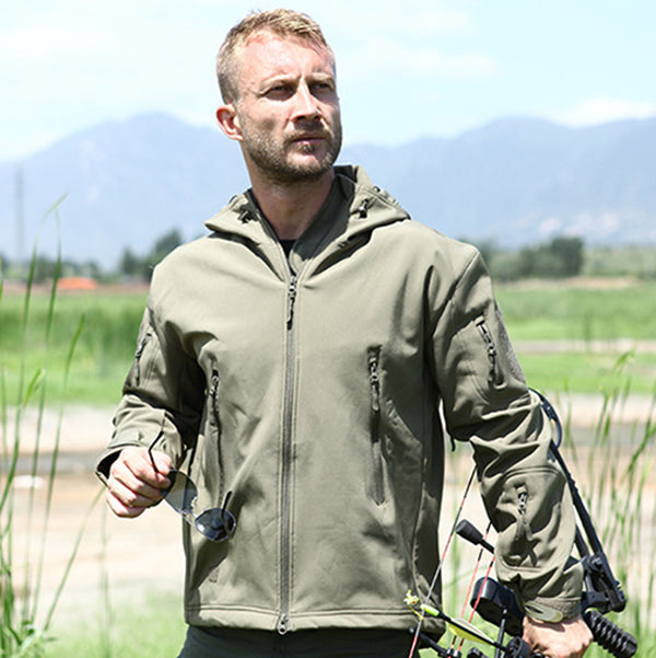 3 IN 1 Shark Skin Waterproof Fleece Thicken Men's Jacket - KINGEOUS