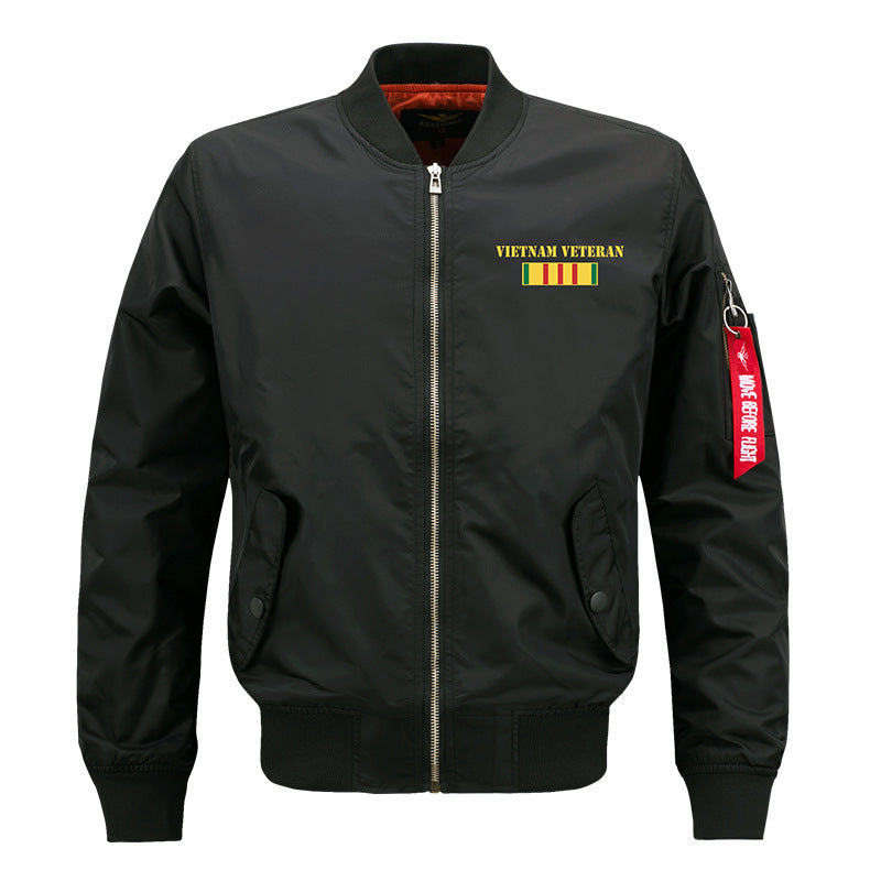 Copy of Max To 8XL Battle Embroidery Thicken Pilot Jacket - KINGEOUS