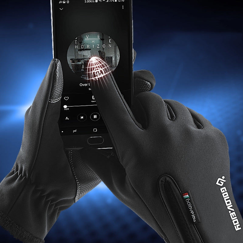 Waterproof Windproof Non-slip Wear PU Touchscreen Gloves