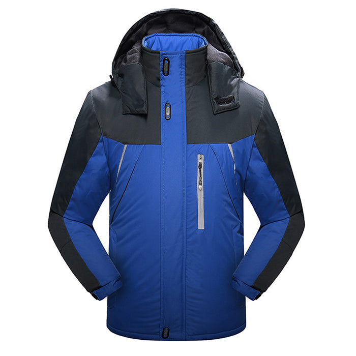 Hooded Cold-proof Plush Thicken Men's Jacket