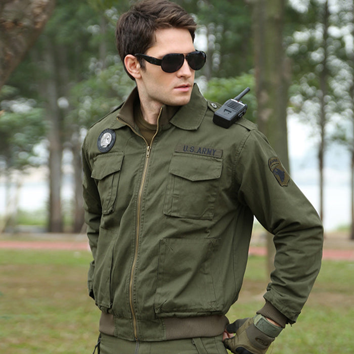 Pilot Series Standing Collar Camo Wear-Resistant Men's Jacket
