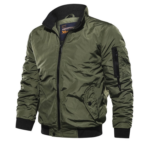 Casual Solid Color Flying Men's Jacket - KINGEOUS