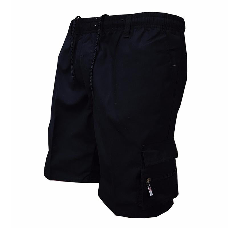 Solid Color Multi-pocket Sport Outdoor Men Short