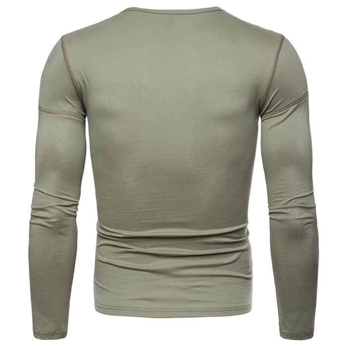 Leisure Solid Color Round Neck Multifunction Bottoming Shirt