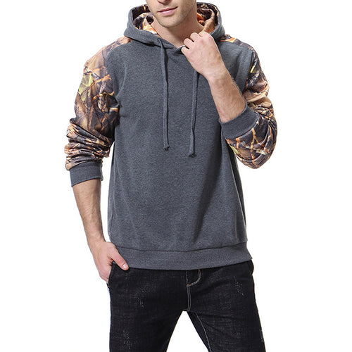 Plus Size Leisure Printing Stitching Hooded Men's Hoodie
