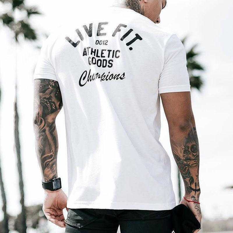 Fitness Round-neck Short-sleeve Running Men's T-shirt