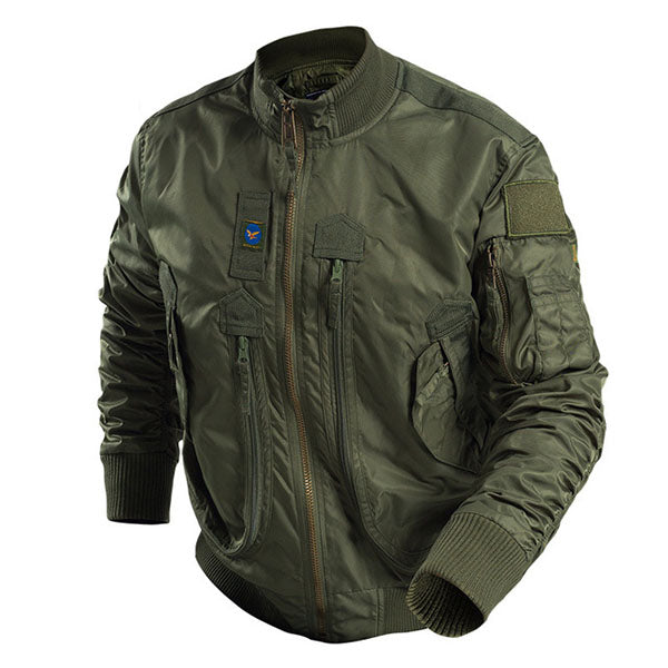 Cool Stand Collar Flight Men's Jacket - KINGEOUS