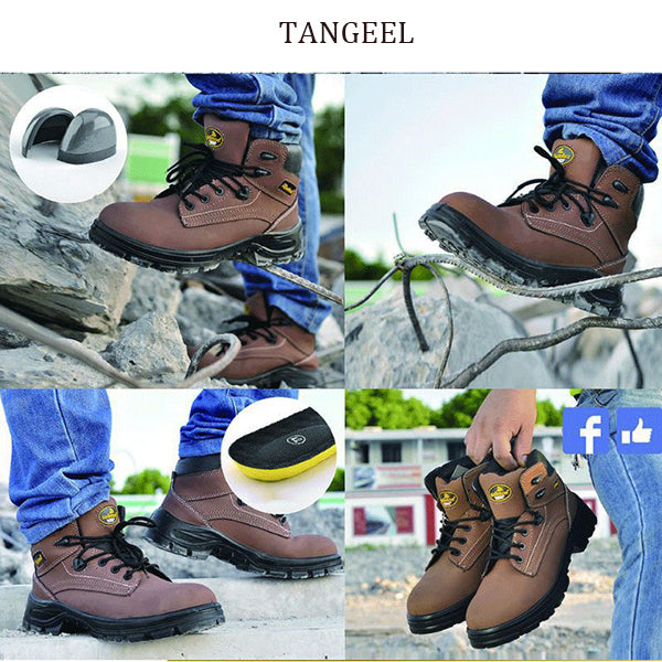 High Quality Leather Steel Toe Cap Tactical Men's Ankle Boots