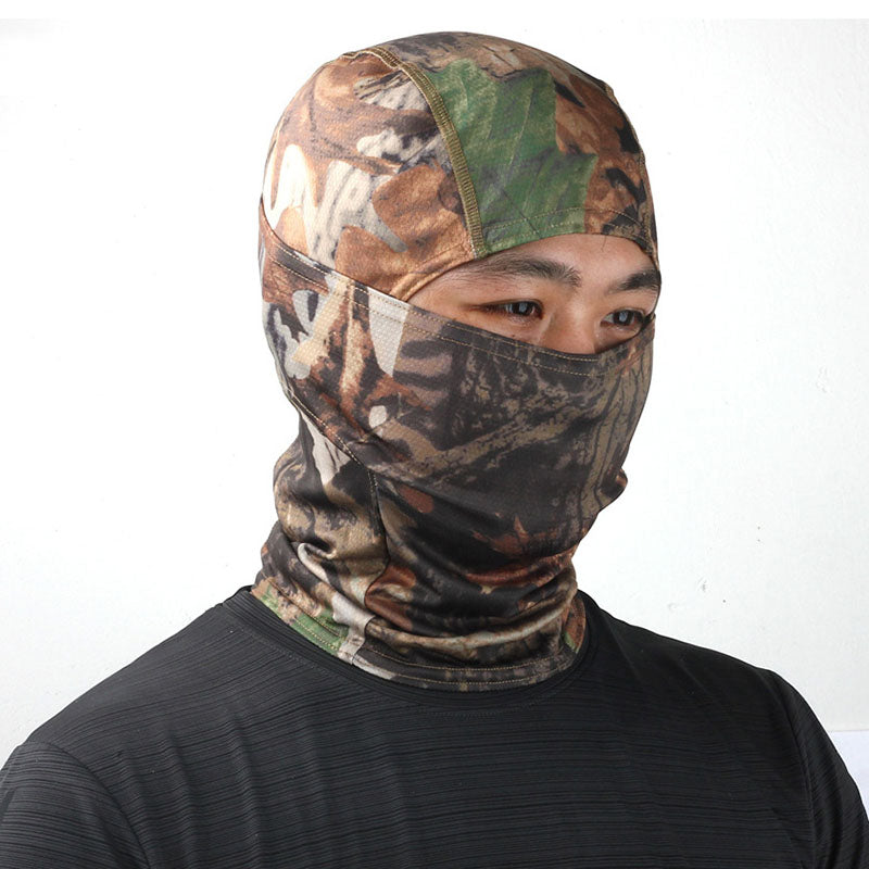 Bionic Camouflage Headgear Leaf Riding Tactical Scarf