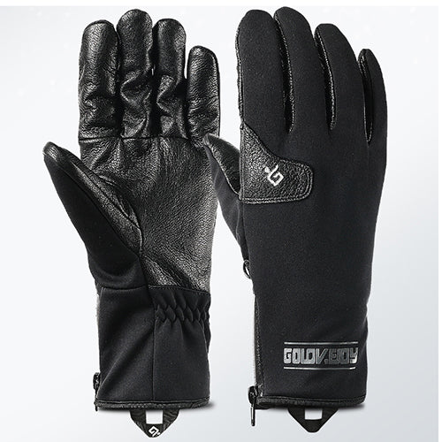 Premium Goat Leather Fleece Warm Gloves