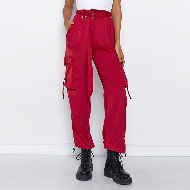 Street Hip-hop Chain Plus Pocket Women's Cargo Pants