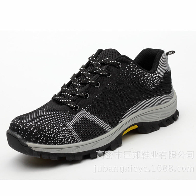 Casual Breathable Mesh Steel Toe Cap Work Safety Men Shoes - KINGEOUS