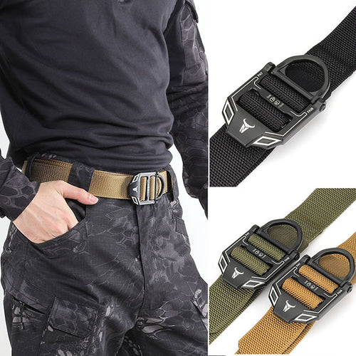 Cobra Series Nylon-trimmed Beaded Tactical Belt - KINGEOUS