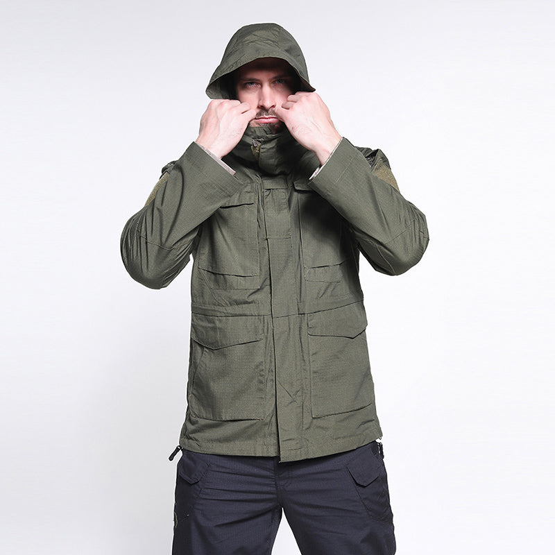 Tactical Windbreaker Outdoor Medium and Long-style M65 Men Coat